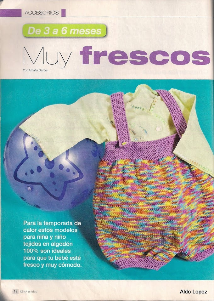 Jardineira em Tricô Para Bebês 03 a 06 meses- Receita Completa