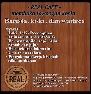 Lowongan Kerja di Real Cafe Makassar