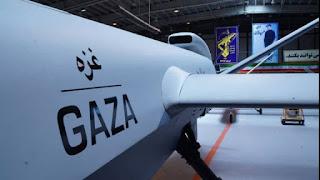 """Persembahan Untuk Pejuang Palestina, Drone Super Berat Iran diberi nama """"GAZA"""", Bisa Bawa 13 Rudal"""