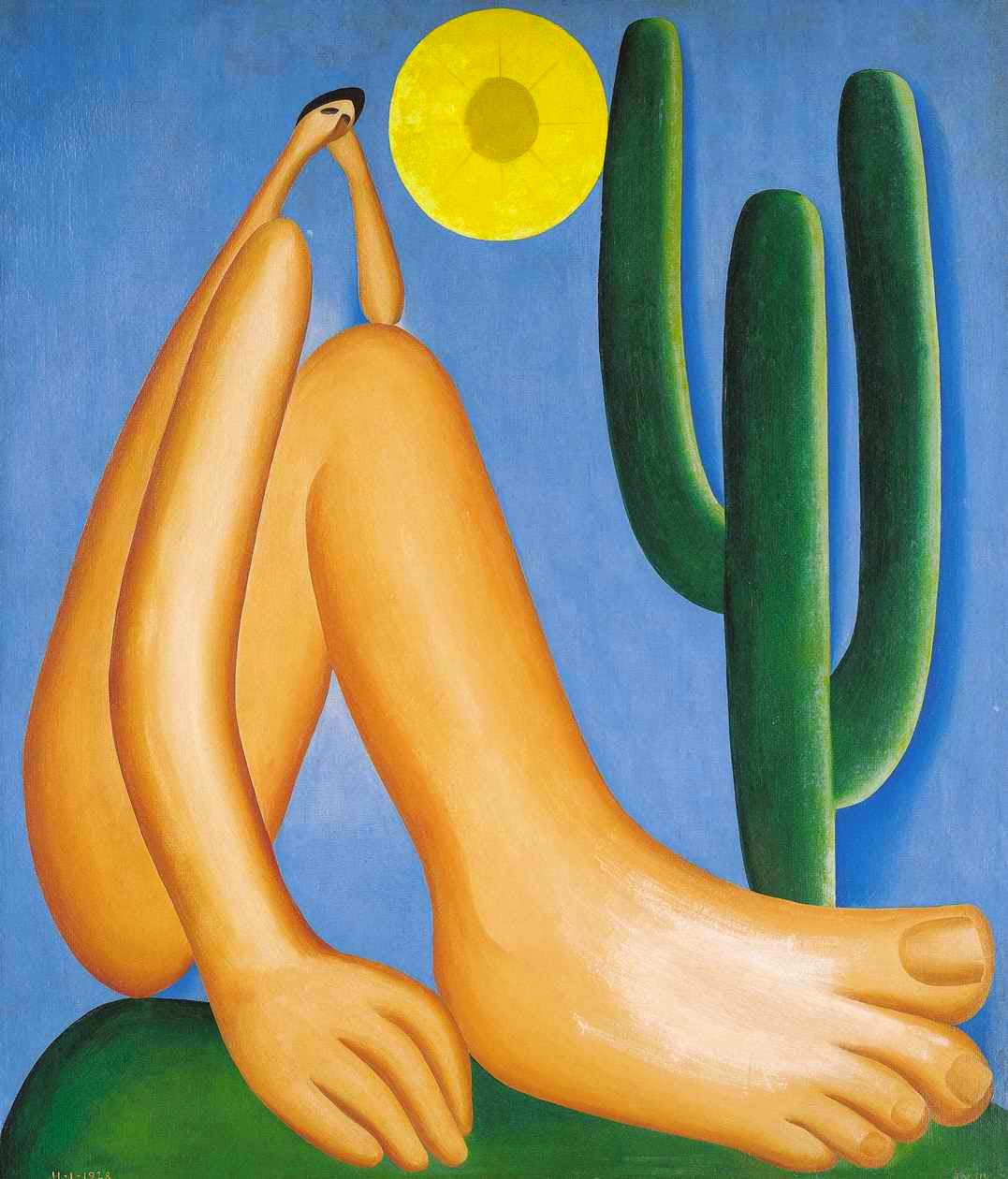 Pintura Abaporu de Tarsila do Amaral