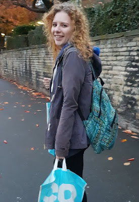 Student carrying shopping uni co-operative food cropped