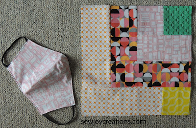 mask quilt fabric quilt block b Dropping In quilt