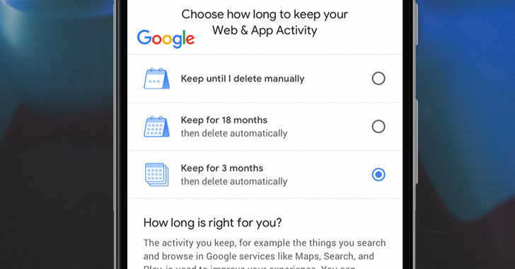 Google Adds New Option to 'Auto-Delete' Your Location History and Activity Data