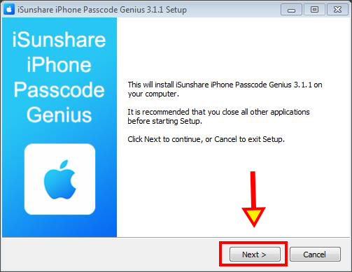 install iPhone Passcode Genius