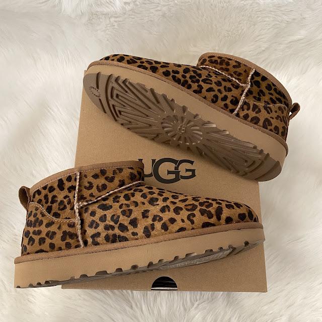 UGG classic ultra mini boot leopard print