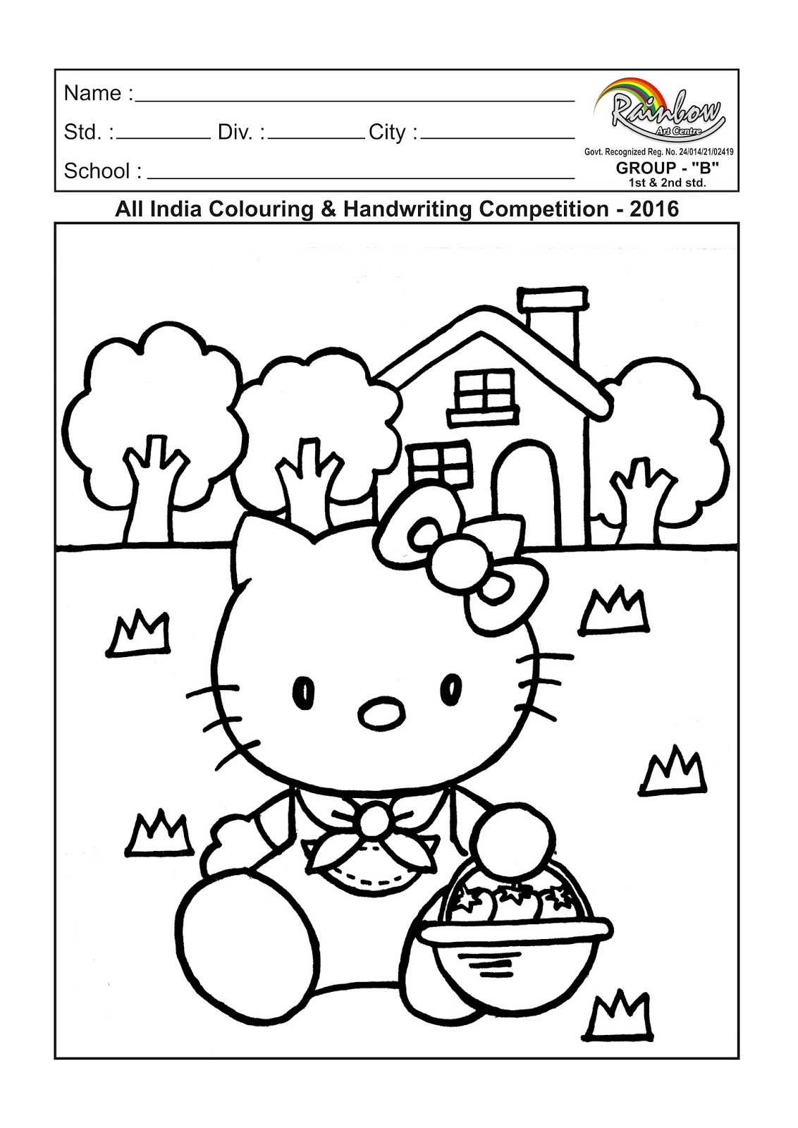 Rainbow Art Centre: ALL INDIA COLOURING AND HANDWRITING
