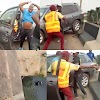 A Driver Hit A Policeman Off A Bridge While Trying To Escape From LASTMA. VIDEO