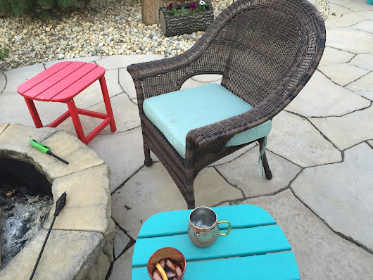 Dramatic backyard furniture makeover with cushions