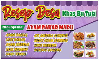 Desain-spanduk-kuliner-warna-ungu-format CDR. Cocok-untuk-warung-makan