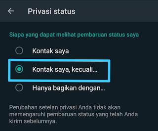 Cara Menyembunyikan Status Whatsapp 1