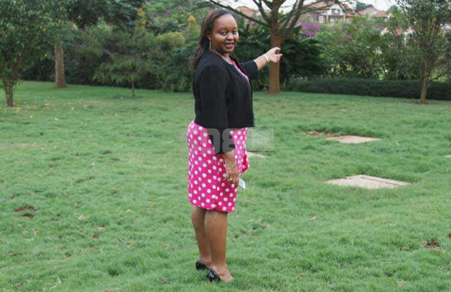 Kirinyaga Governor Anne Waiguru at her residential place.