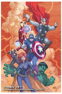 Especial: Vingadores ganham capas que homenageiam obras de arte.| HQ 18