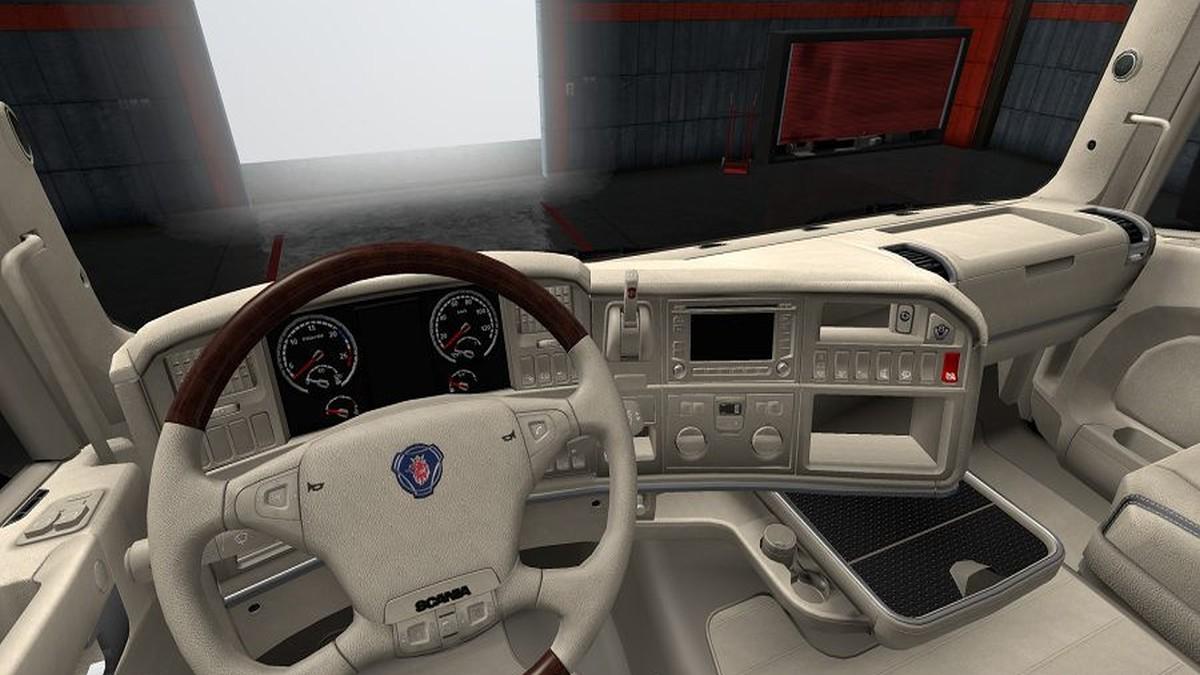 Alcantrara Beige Interior for Scania RJL