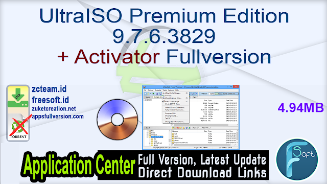 UltraISO Premium Edition 9.7.6.3829 + Activator Fullversion