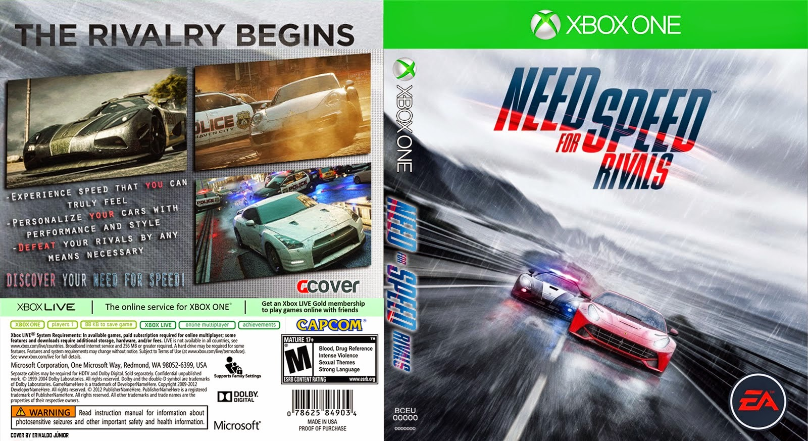 need for speed rivals xbox one ultra capas. Black Bedroom Furniture Sets. Home Design Ideas