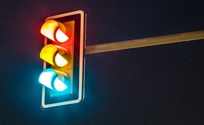 luz, roja, verde, amarillo