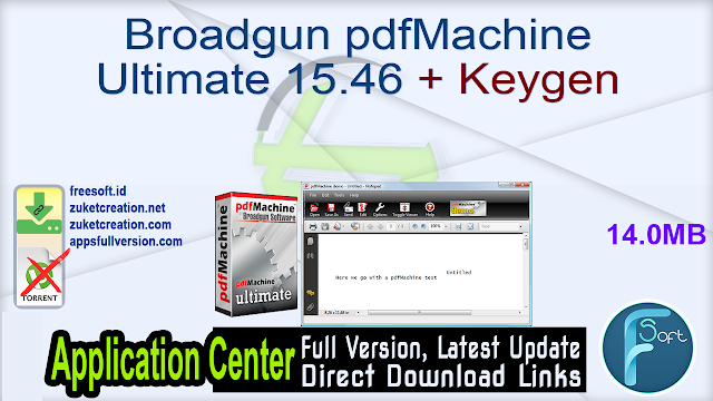 Broadgun pdfMachine Ultimate 15.46 + Keygen