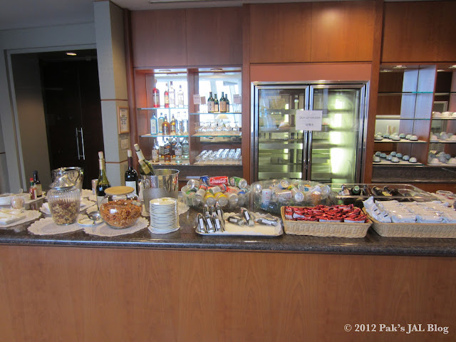 Food at JAL First Class Lounge at JFK Terminal 1