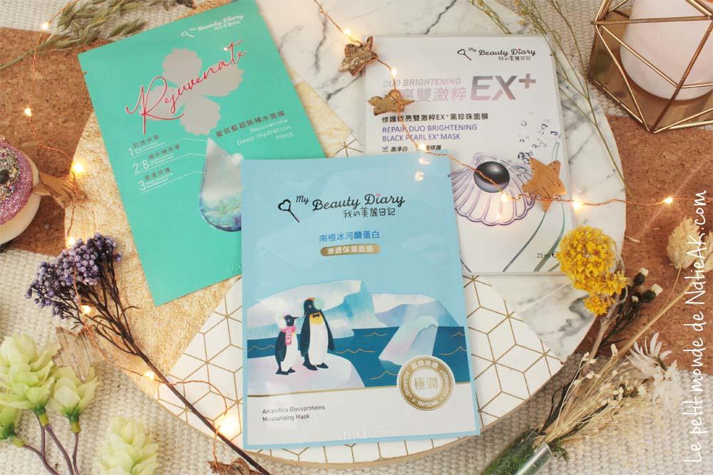 masques en tissu My Beauty Diary