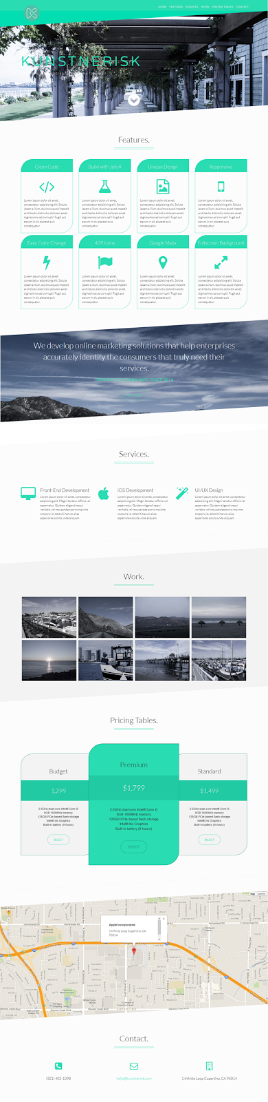 free one page template