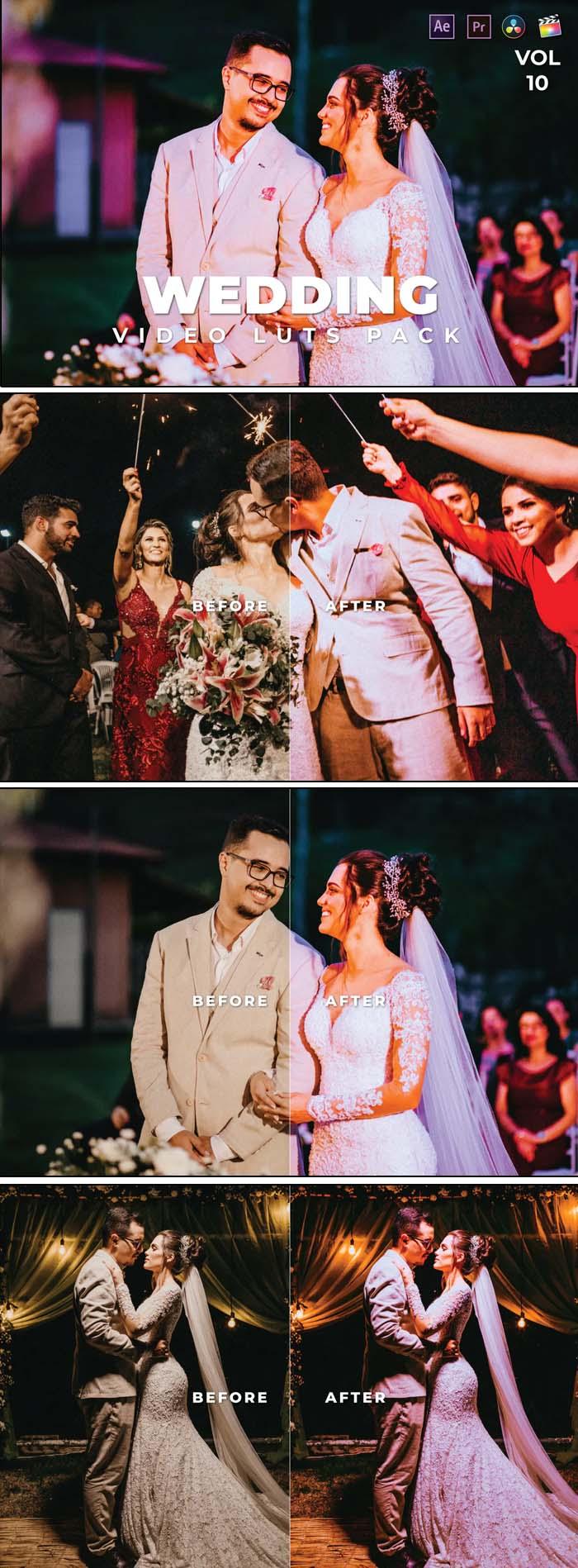 Wedding Pack Video LUTs Vol.10