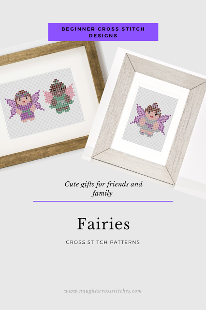 3 Fairies Cross Stitch Patterns