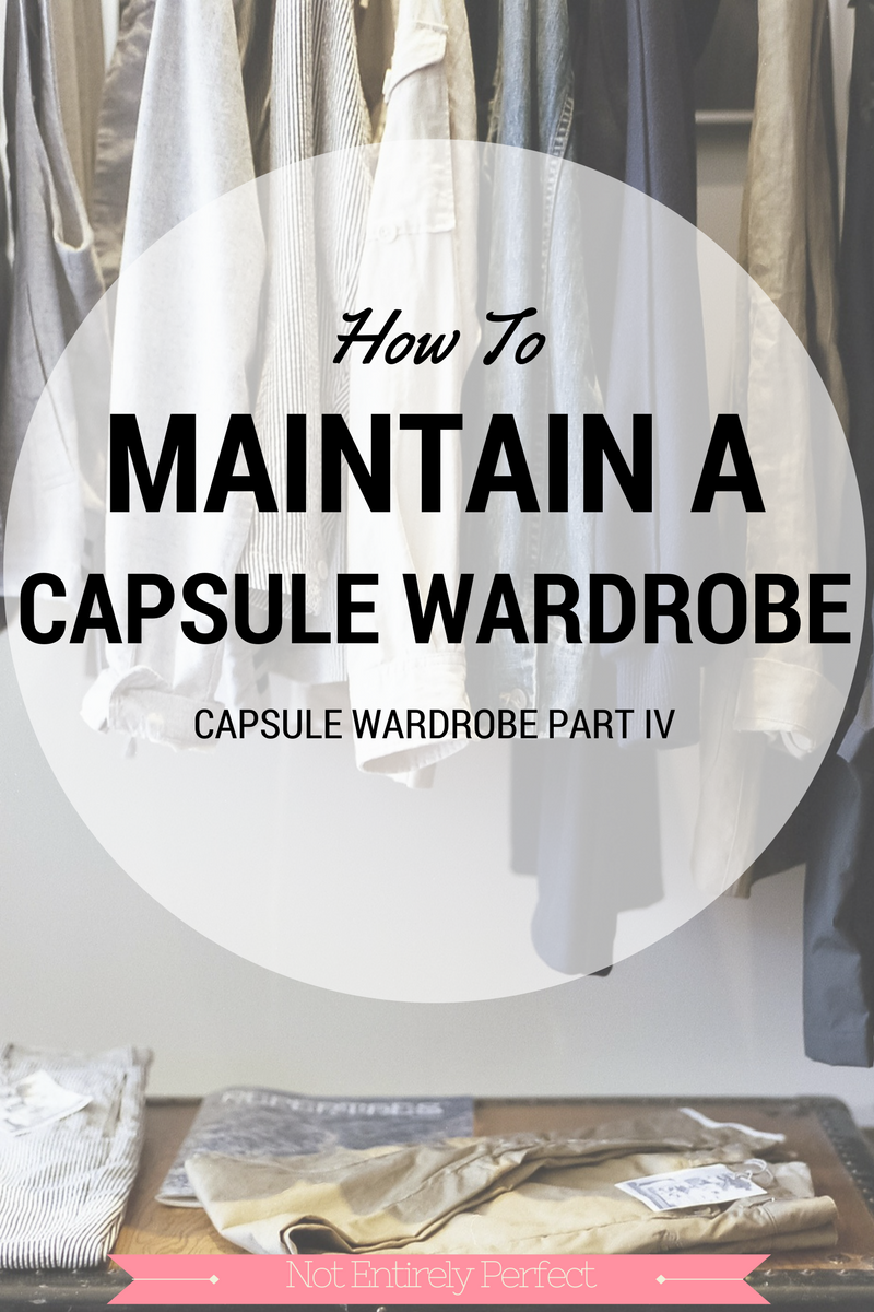 Maintaining A Capsule Wardrobe
