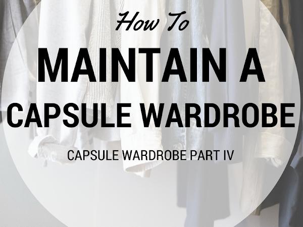 Maintaining A Capsule Wardrobe