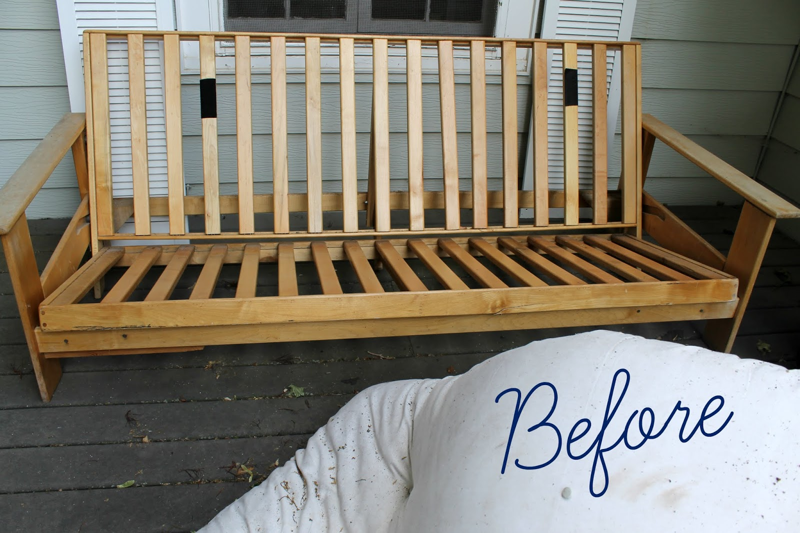A Futon Makeover Using Chalk Paint