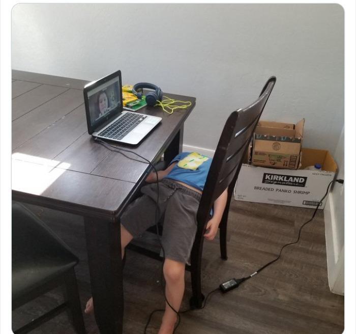 11 Niños que ya están hartos de las clases virtuales y lo demuestran de formas graciosas