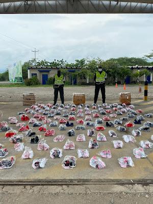 En Maicao y entre Riohacha y Santa Marta, caen contrabandos de calzado