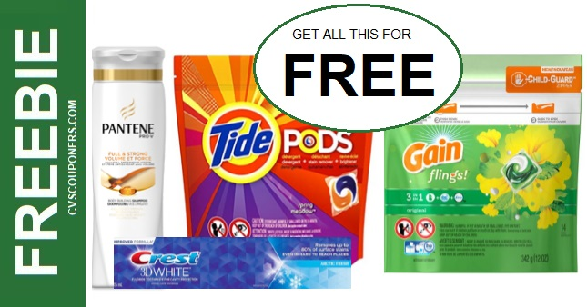 FREE Tide, Gain & Pantene CVS Deals