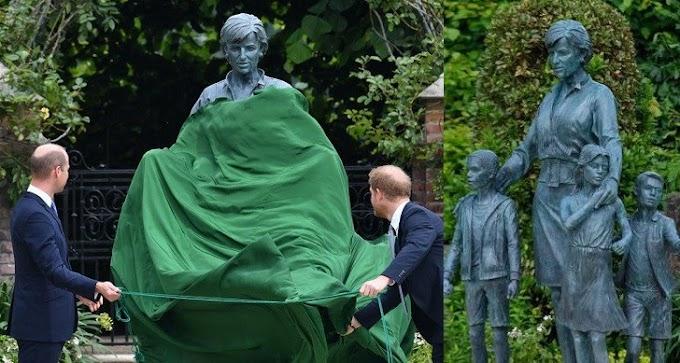 William and Harry unite to unveil Princess Diana's statue at Kensington Palace