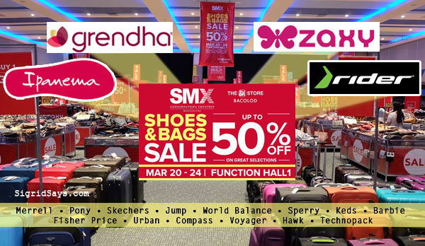 SMX Shoes and Bags Sale - SMX Convention Center - SM City Bacolod - Bacolod blogger - luggage - Grendha, Ipanema, Zaxy, Rider - summer