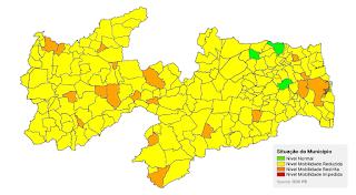 200 cidades paraibanas são classificadas com bandeira amarela