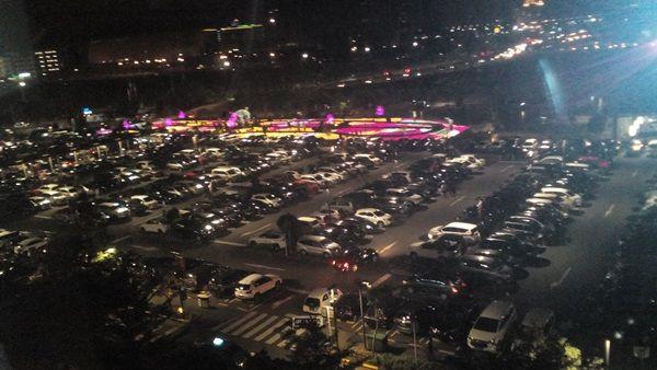 Taman Sakura dari dalam Mall Aeon