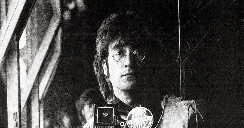 Self Portrait Of John Lennon And His Rolleiflex In The