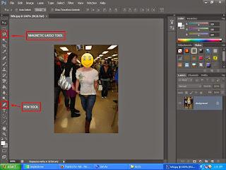 cara membua baju foto menjadi tembus pandang dengan photoshop