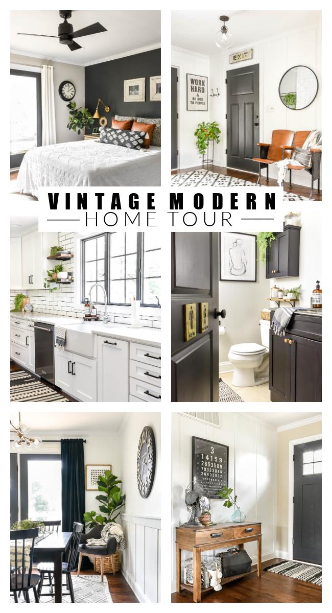 vintage modern home tour