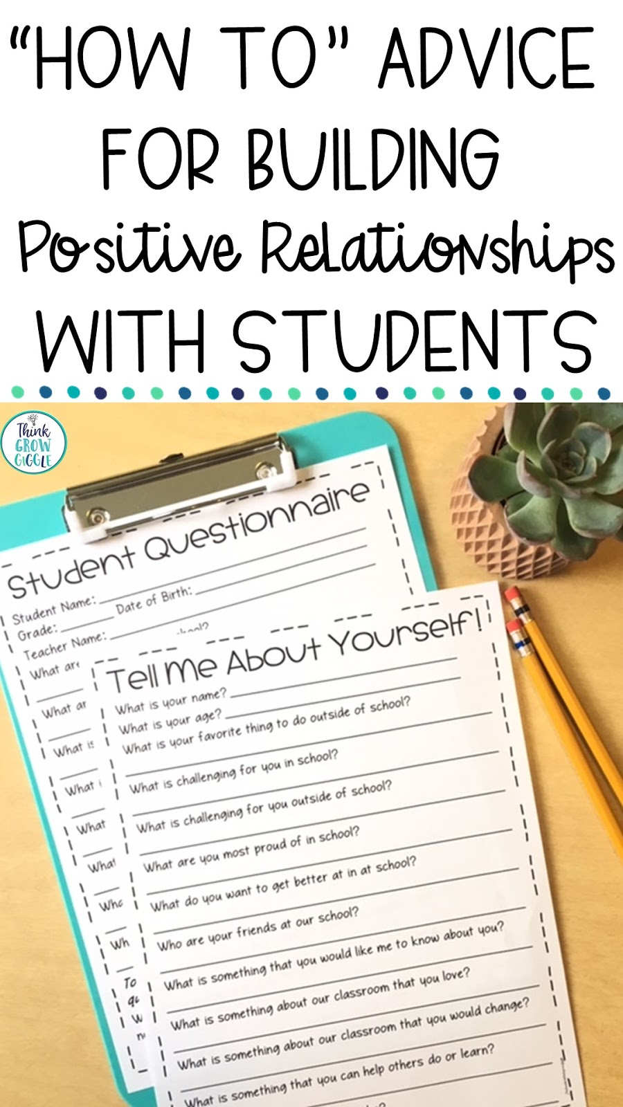 How To Advice for Building Positive Relationships with