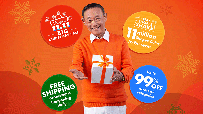 Jose Marie Chan and all the perks from Shopee's 11-11 Big Christmas Sale!