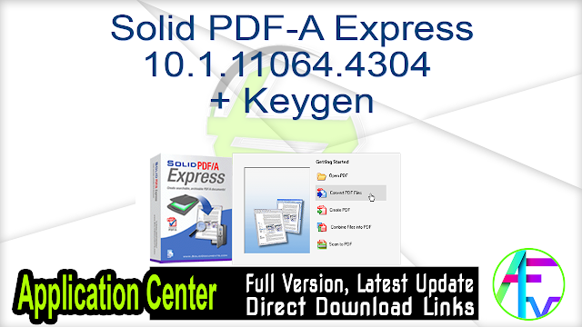 Solid PDF-A Express 10.1.11064.4304 + Keygen