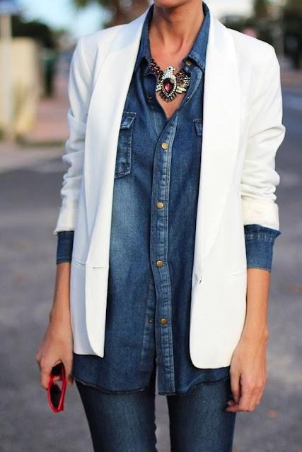 white blazer street style fashion