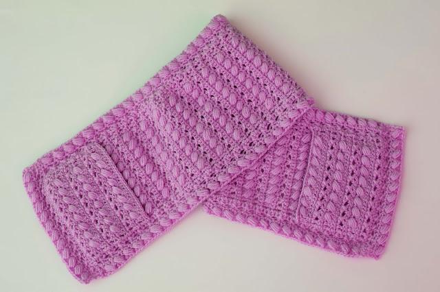 2 -Crochet Imagen Bufanda con bolsillos a crochet y ganchillo por Majovel Crochet
