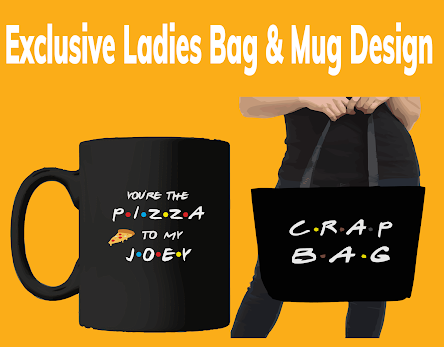 Exclusive Ladies Bag & Mug Design