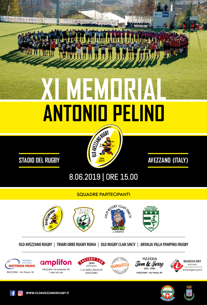XI Memorial Pelino - Manifesto Evento Torneo Rugby