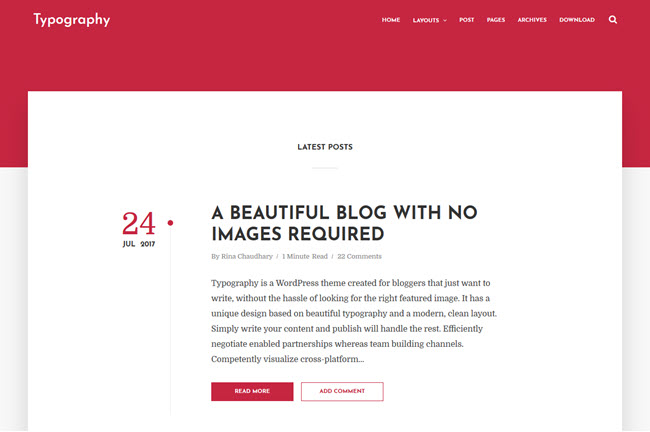 Typography - Responsive Blogger Template
