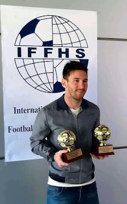 #Lionel #messi win his fourth #award #best #playmaker this year.. #Congrats #king #leo.