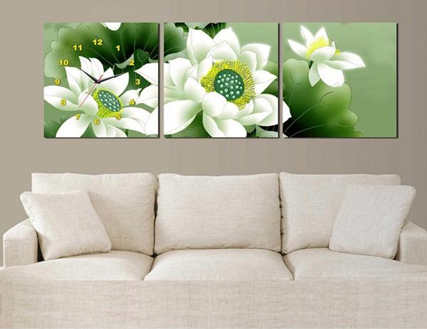 Tranh trang trí hoa sen mang đến tâm hồn thanh tịnh