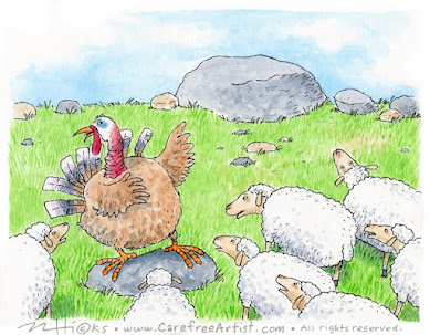 the sheep & the turkey fable